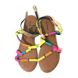 CALL IT SPRING Colorful Beaded Sandals